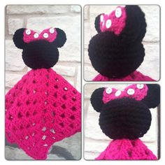 Minnie Mouse INSPIRED Security Blanket by cuteasabutton2012, $4.00
