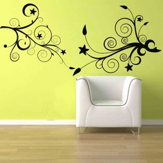 Flower Floral Swirl Deco Wall Mural Vinyl Sticker Decal Part 4