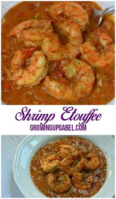 An easy shrimp etouffe recipe that is packed with flavor! Serve over rice for mardi gras or a family dinner! |GrowingUpGabel.com