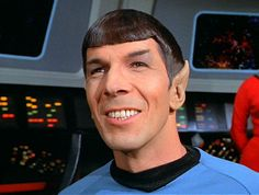 hey!  that's not supposed 2 happen!  there was only 1 episode with a spock happy & this scene wasn't in it.