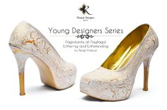 Risque Designs Pagkalanta at Pagtagal / Withering and Withstanding by Bengt Enrique custom shoes / hand painted / pumps Young Designers, Pumps, Heels, Custom Shoes, Hand Painted, Fashion, Heel, Custom Tennis Shoes, Moda