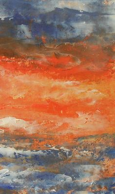 Abstract Sunset 3 by Jane See #abstract #painting #sunset #janesee http://fineartamerica.com/featured/abstract-sunset-3-jane-see.html