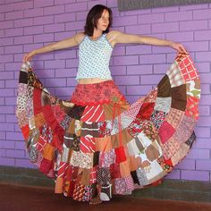 patchwork skirt... I totally want to do this!