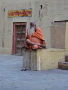 Religious man in India for Orange Living in Sin: Project World Colours - Rainbow - An Alternative take to look back at 2013