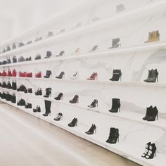 Shoes shopping at Saint Laurent // photo by Bonnie Tsang