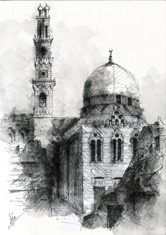 Mosque and mausoleum of Sultan Qansuh al-Ghuri , Old Cairo, Sultan al-Ghuri Mausoleum was built between 1503 and 1505. The complex straddles both sides of al-Mu'izz Street, with the congregational mosque-madrasa built on the western side, and the khanqah-mausoleum-sabil-kuttab on the eastern side.