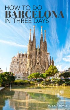 From Park Güell to La Sagrada Familia cathedral to tapas, here& the perfect three-day weekend in Barcelona. European Vacation, European Travel, Vacation Spots, Vacation Packages, Places To See, Places To Travel, Travel Destinations, Nature Architecture, Barcelona Travel