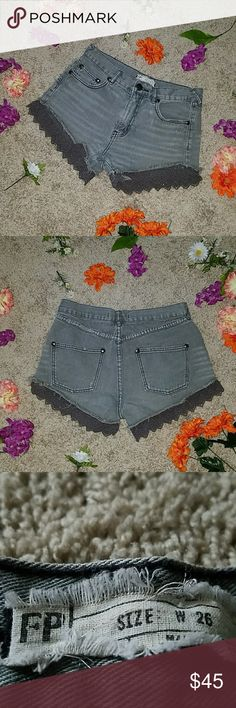 Free people high waisted lace shorts Great condition  Zipper fly Free People Shorts