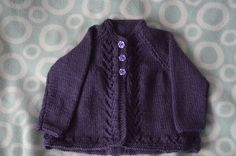 Merino Matinee Jacket, Matinee Jacket Style 1, Size 3months to 1 year, Purple Matinee Jacket, Winter Baby Clothing, by BobtailsBoutique on Etsy