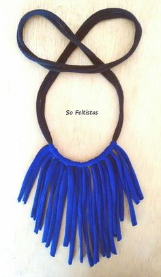 So Feltistas, Handmade Cotton Necklace.