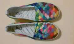 Rainbow fish shoes! potential costume idea!