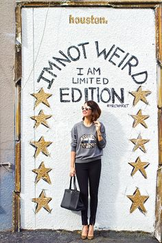 """""""I'm not weird. I am limited edition."""" :) Markus Lupfer sequined lips sweater"""