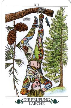 The Examination (The Hanged Man) - Madru Das Baum Tarot