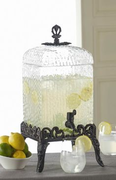 Hammered Glass Beverage Dispenser: perfect for lemonade, iced tea and all your other favorite summer time drinks #SteinMart