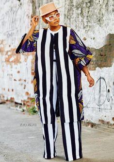 Modern Hijab Fashion, Suit Fashion, Womens Fashion, African Wear Dresses, African Attire, Mode Rihanna, Kaftan Tops, African Print Fashion, Ankara Fashion