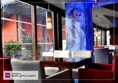 Blue Berry Restaurant and Club - Poland.   Restaurant interior design made by Architektura Szyjkowski.