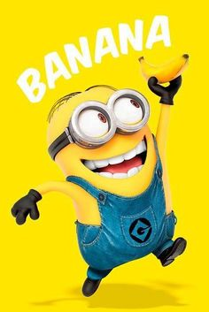 Deco Panel Minions Banana, Grafikdruck East Urban Home Image Minions, Minions Images, Minion Pictures, Minions Love, My Minion, Minions Quotes, Funny Minion, Funny Jokes, Minions 2014