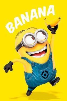 Deco Panel Minions Banana, Grafikdruck East Urban Home Image Minions, Minions Images, Minions Love, Minion Pictures, My Minion, Minions Quotes, Funny Minion, Funny Jokes, Minions 2014