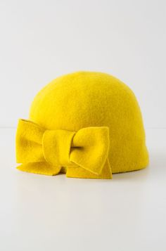 Sunrise Bow Cloche #yellow #hat @Anthropologie .