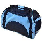PetIQ Unique Hand-Crafted Designer Pet Carrier Bags,Tote & Bag for Cats & Dogs-Fashion Extra Pet Handbag (Blue, S)