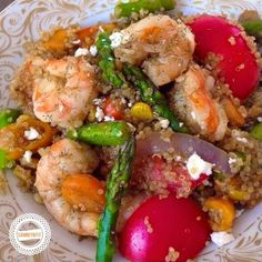 Shrimp & Vegetable Quinoa Stir-Fry - With Peanut Butter on Top