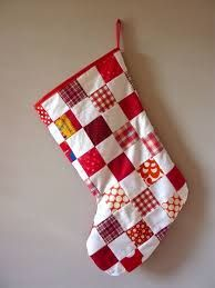 patchwork christmas stocking - Google Search