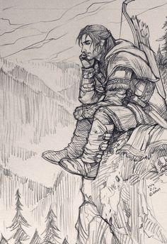 Kili, right before BotFA, knlwing that he may not see Tauriel again. At least not alive.