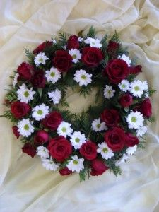 68 best funeral stuff images on pinterest death funeral eulogy funeral floristry red and white wreath mightylinksfo