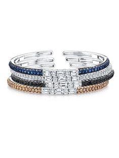 Emerald-Cut Diamond Bangle Bracelets by Martin Katz