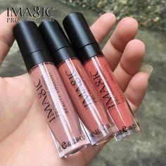 IMAGIC lipstick cosmetic Lipstick lip gloss liquid matte 3pcs/set in stock matte lipgloss make up beauty