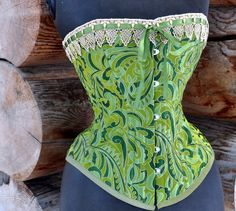Ode To Absinthe. $399.00, via Etsy.    LaBelleFairy Handmade Corsets