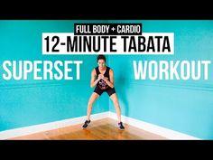 12-Minute Bodyweight Tabata Workout Series: Full Body + Cardio
