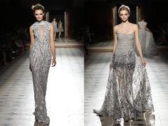 Tony Ward - Défilé Haute Couture FW 15/16  No Face No Name blog : www.nofacenoname.blogspot.fr Instagram : @nofacenonameblog  Twitter : @nfnnblog  Facebook : www.facebook.com/nofacenonameblog  #Robe #créateur #dress #gris #grey #dentelle #sequin #paillette #princess #princesse #lace #fashion #mode #défilé #hiver # winter #catwalk #hautecouture #broderie #embroidery