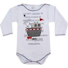 Body Bebê Menino Manga Longa Barco Branco - Patimini :: 764 Kids | Roupa bebê e infantil