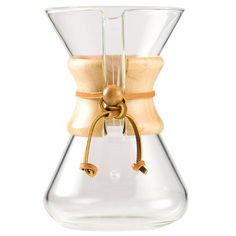 FOR SALE Chemex Hand Blown Glass Coffee Maker with Wood Collar and Tie, 30 Ounce