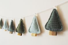 Evergreen Tree Wool Garland by whatnomints, via Flickr