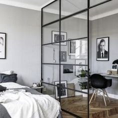 Modern room partitions have many uses. They can divide a large room into smaller areas, separate a room, enhance your […] Home Bedroom, Bedroom Decor, Bedroom Ideas, Bedroom Divider, Room Dividers, Bedroom Lamps, Wall Lamps, Bedroom Lighting, Bedroom Inspiration