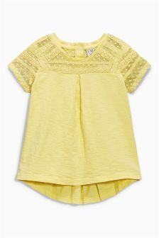 Yellow Lace Blouse (3mths-6yrs)