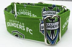 MLS, Seattle Sounder Adjustable Martingale Dog Collar - Made to Order - by JinsK9Kreations on Etsy