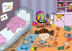 Bajka pomagajka-terapeutyczna na temat porządku, sprzątania i obowiązków domowych. Bałagan w pokoju dziecięcym zdarza się wszędzie. Bajka może pomóc.