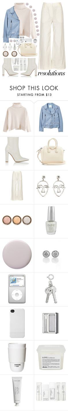 """""""#PolyPresents: New Year's Resolutions"""" by unkemptly ❤ liked on Polyvore featuring MANGO, Gianvito Rossi, Givenchy, The Row, By Terry, OPI, Margaret Dabbs, Incase, Clinique and ROOM COPENHAGEN"""