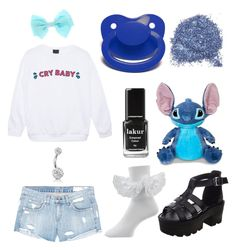 """""""DDLG Crybaby Outfit"""" by just-a-daddy on Polyvore featuring rag & bone/JEAN, Bling Jewelry, Londontown and Disney"""