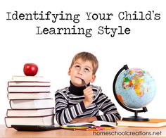 What is your childs learning style? Knowing and understanding your children's learning styles, or the way that they process and understand information, can help you as a parent and a teacher.