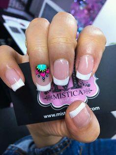Resultado de imagen para diseño de uñas con mandalas Diy Nails, Cute Nails, Pretty Nails, Mandala Nails, Elegant Nail Designs, Nails Only, Bright Nails, Crazy Nails, Finger