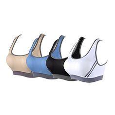 7e1ebe9e5f Women s Workout Yoga Push-up Seamless Cross Sports Bra (Blue