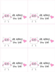 "Cute Valentine for my kinder students!  Great idea. ""Owl Always Love You"" Printable Bag Toppers... by thebearfootbaker.com"