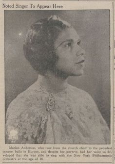 Friday's Lariat announced the expectation of a performance on Monday by Marian Anderson, Baylor Lariat, March Marian Anderson, Leaving A Legacy, A Hundred Years, Conductors, The Voice, March, Friday, Singer, Singers