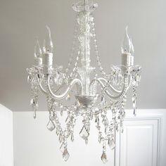 Ivory & Deene Devotion 5 Light Glass Crystal Chandelier