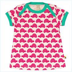 Kurzarm-Kleid Schildkröten rotpink loud and proud -www.lolakids.de Kindermode