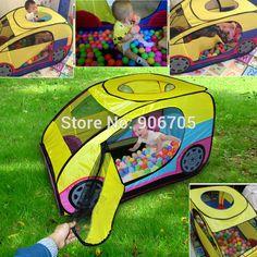Encantador de la Historieta juego de coches tienda grande juego de Interior Al Aire Libre Niños Bebé para la Primavera de Camping Coche tienda del juguete Jugar a las Casitas con cremallera 2 #